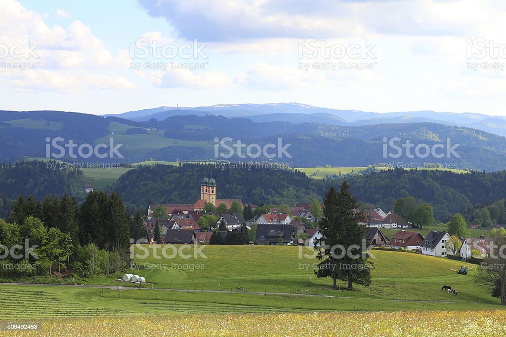 Black Forest landscape with St. M?rgen stock photo