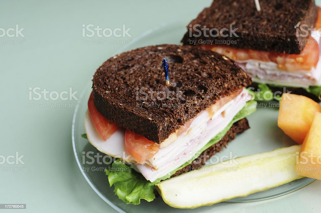 Black Forest Sandwich royalty-free stock photo