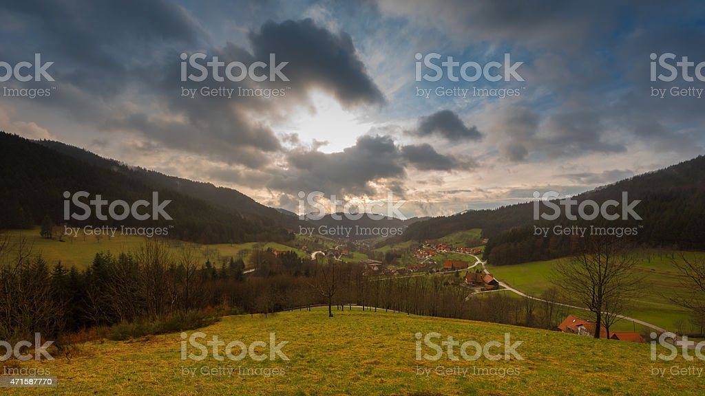 Black Forest Village photo libre de droits