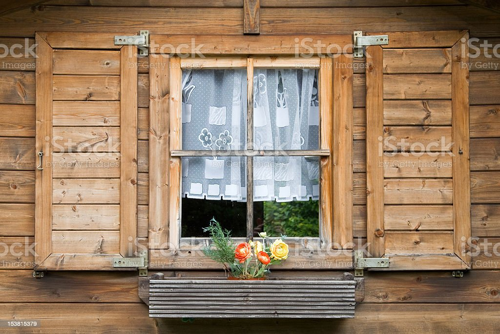 Black Forest Window royalty-free stock photo