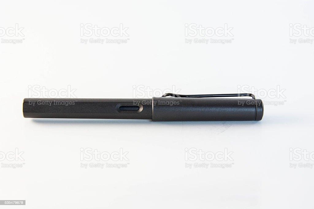 Black fountain pen royalty-free stock photo