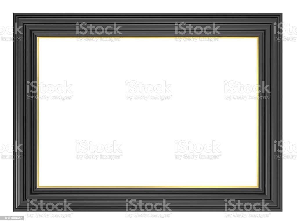 Black frame isolated on white background. royalty-free stock photo