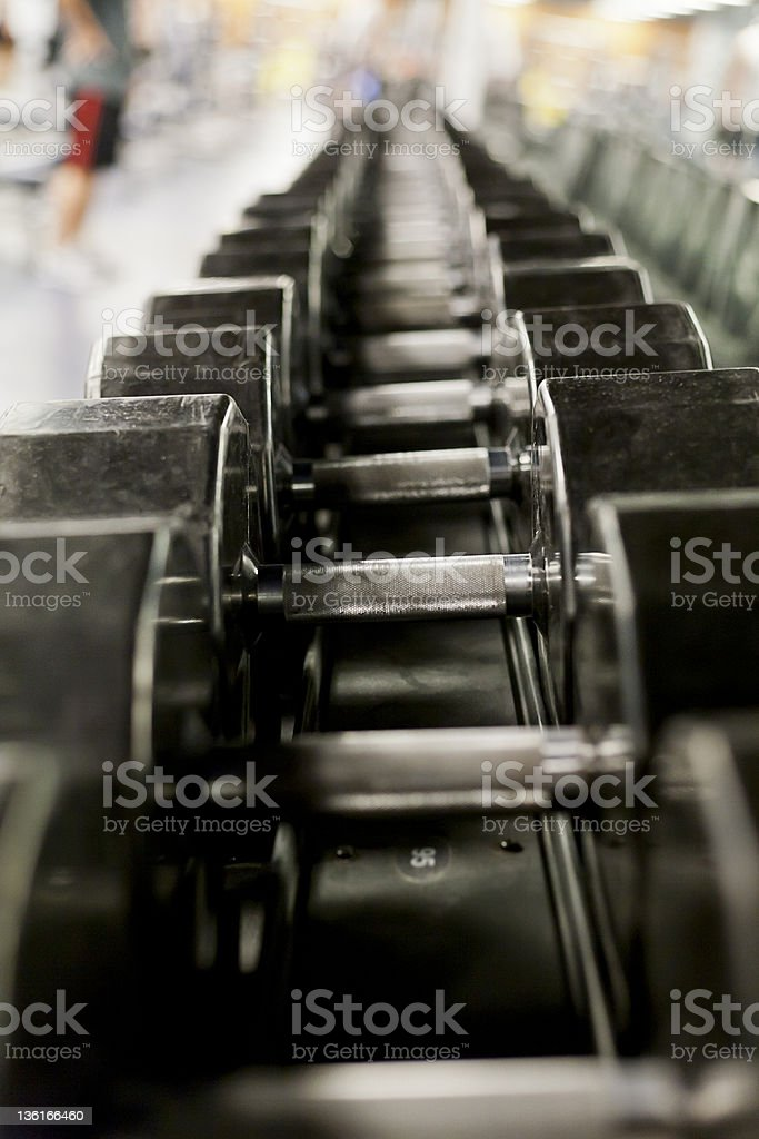 Black Free Weights royalty-free stock photo