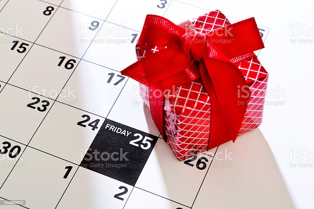 Black Friday 2016 Sale Calendar Date, November 25 stock photo