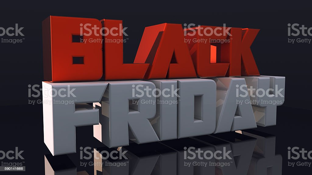 Black friday 3D text stock photo