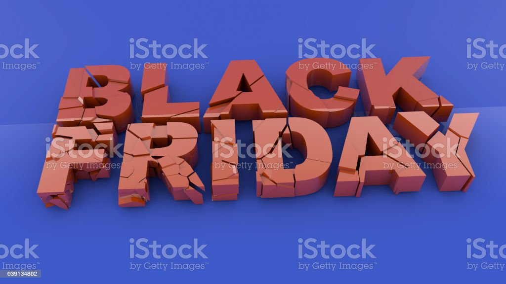 Black friday 3D text stock photo