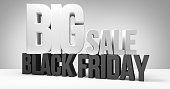 black friday. black friday sale 3d render
