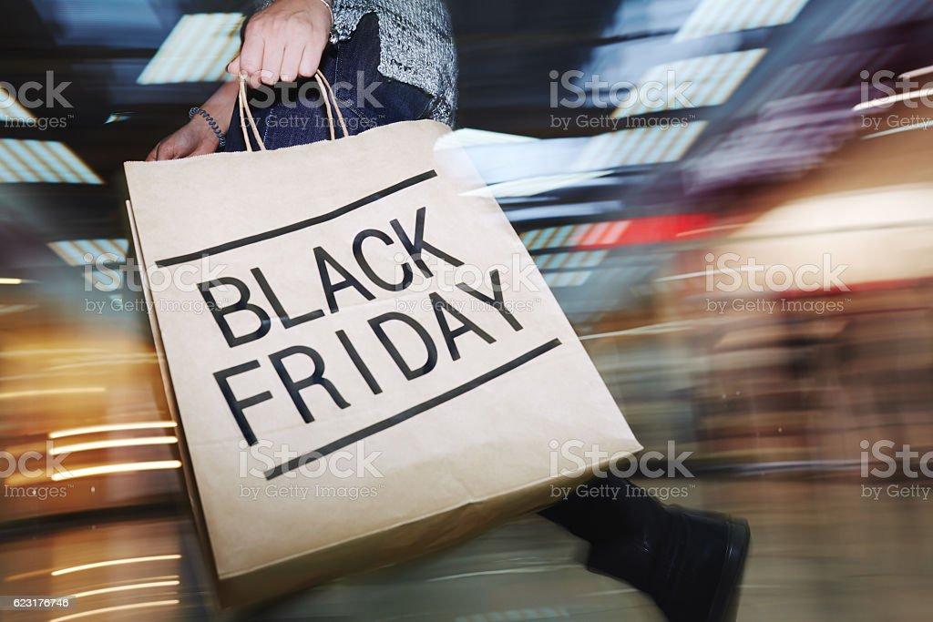 Black Friday craze stock photo
