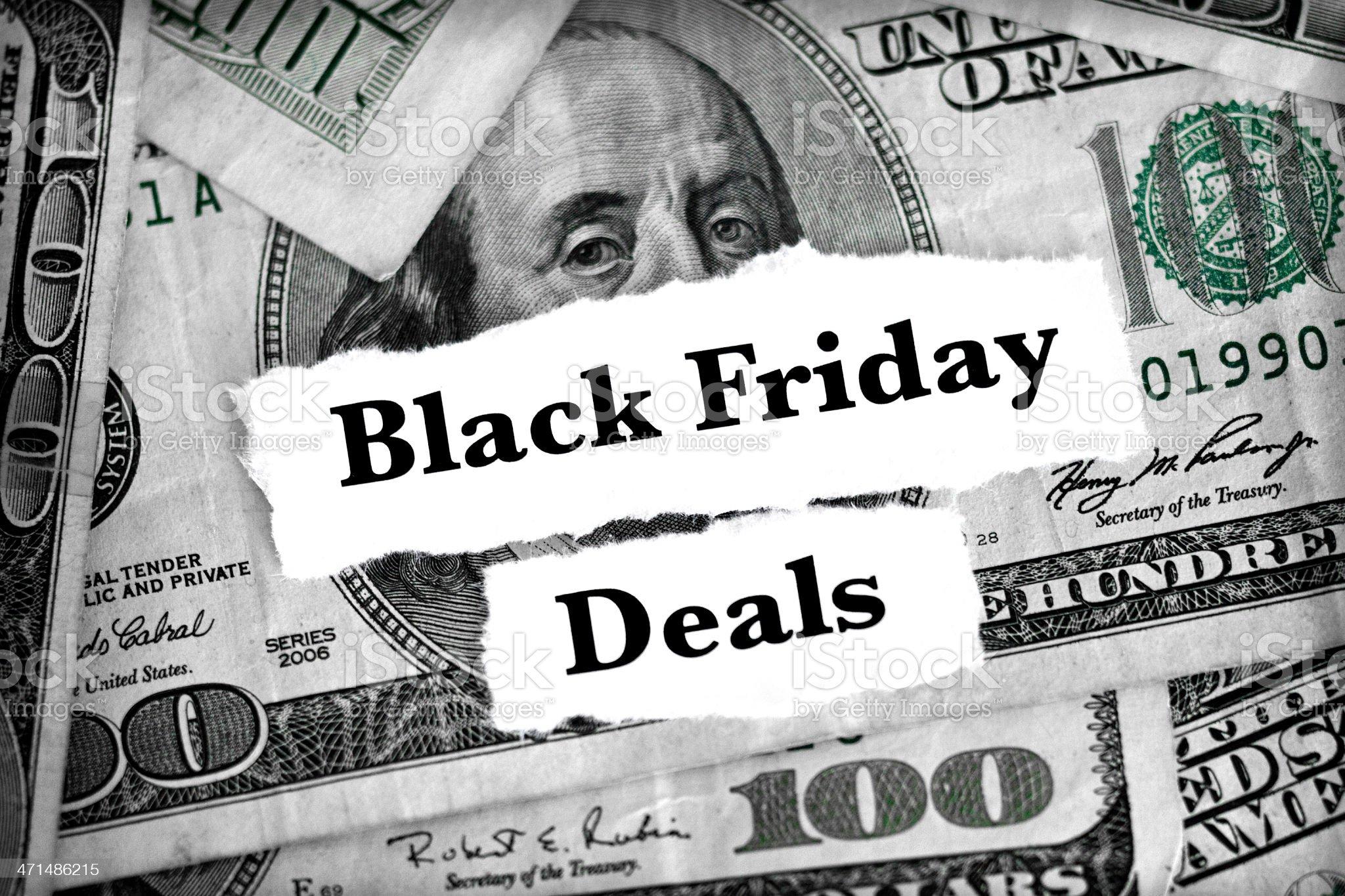 black friday deals royalty-free stock photo