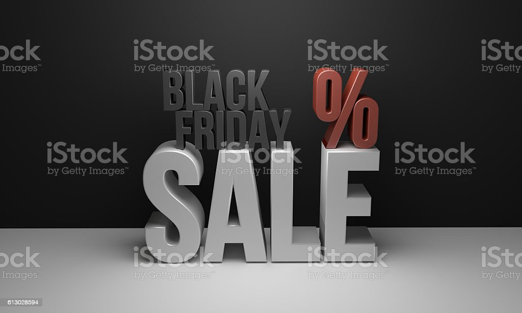 Black Friday Sale 3D Render Design stock photo