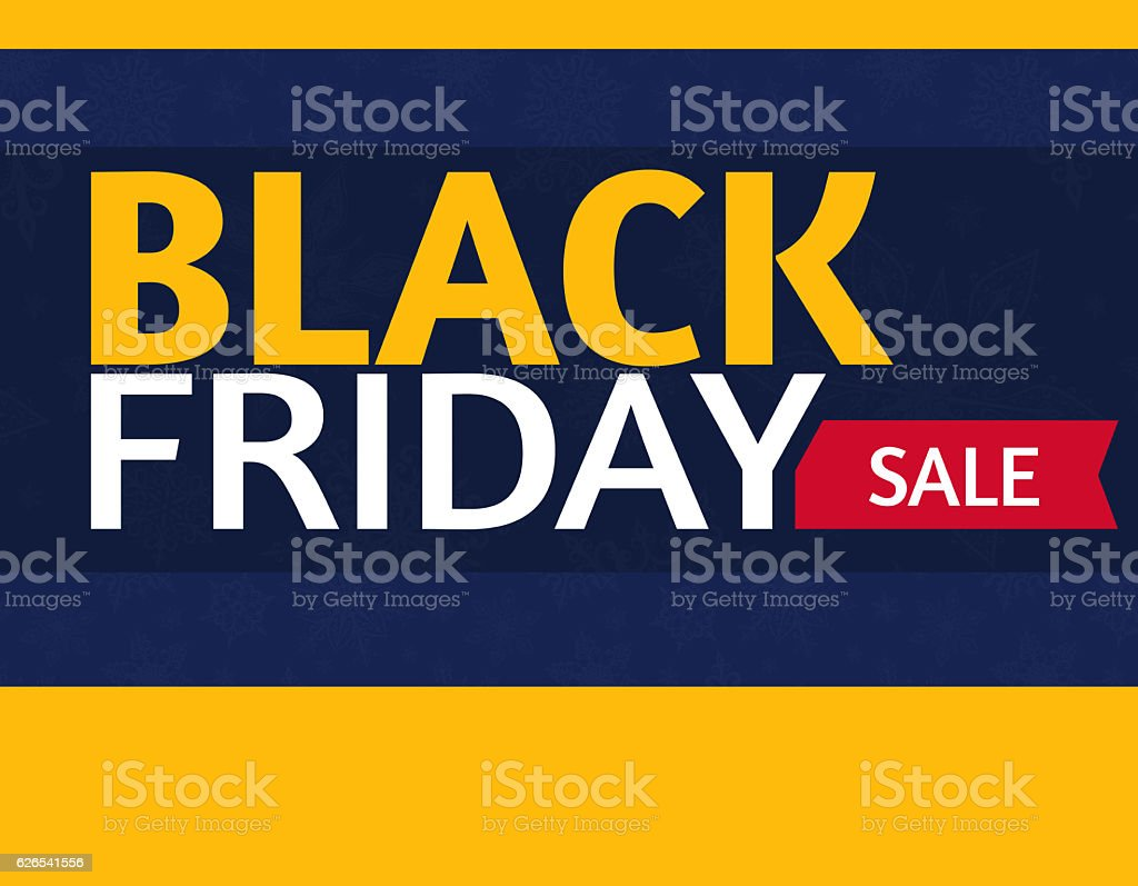 Black Friday sale  add or flyer with percent sale stock photo