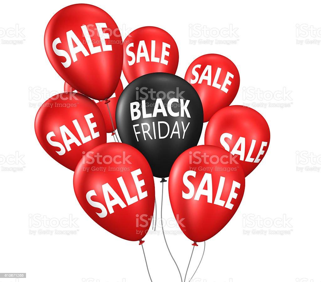 Black Friday Sale Balloons stock photo