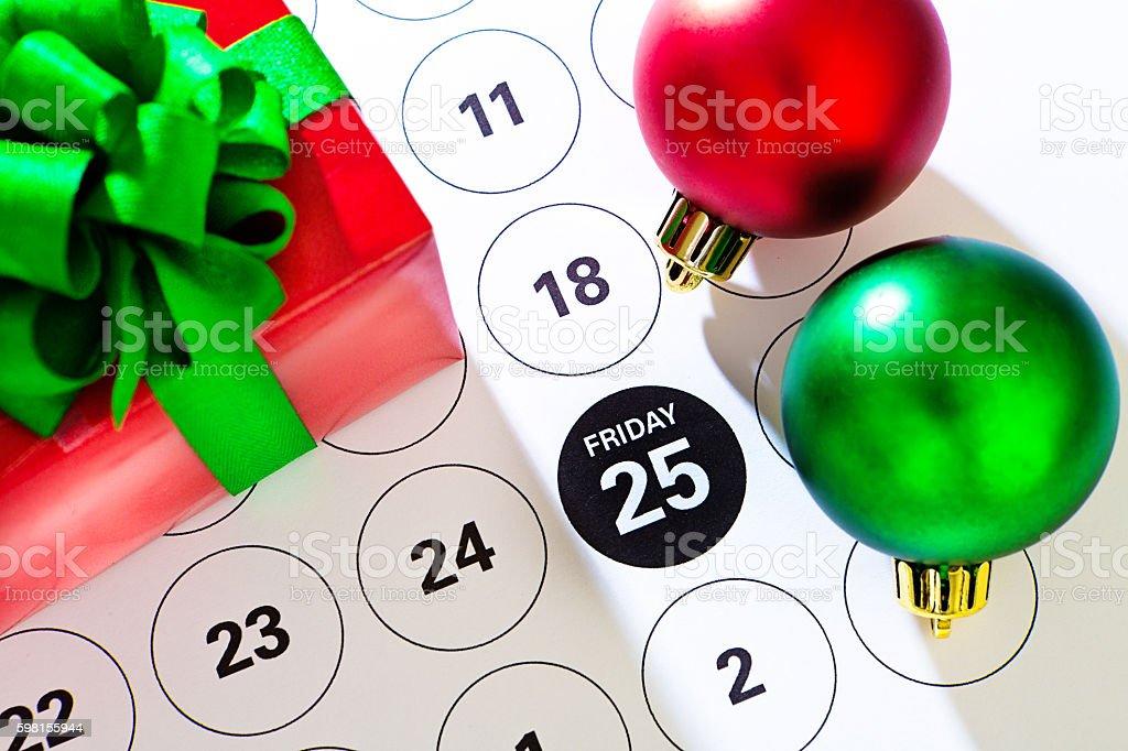 Black Friday Sale Calendar Date, November 25, 2016 stock photo