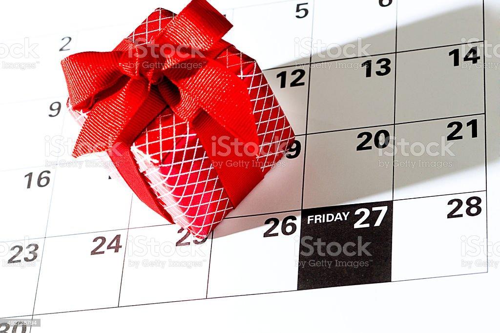 Black Friday Sale Calendar Date, November 27, 2015 stock photo