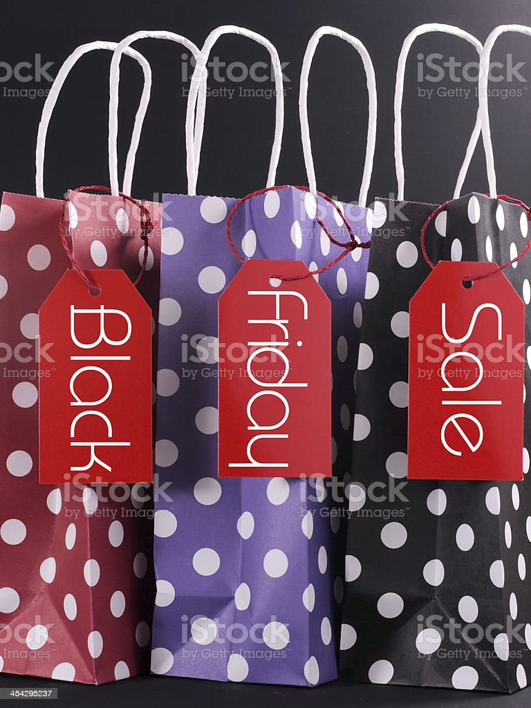 Black Friday sale concept with shopping bags stock photo