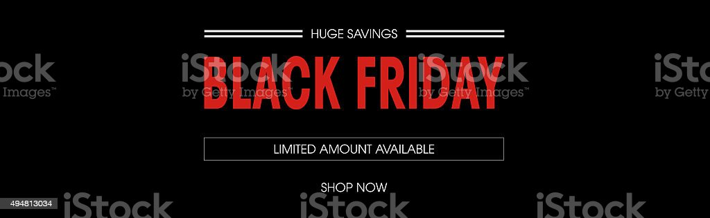 Black friday sale deals web banner stock photo