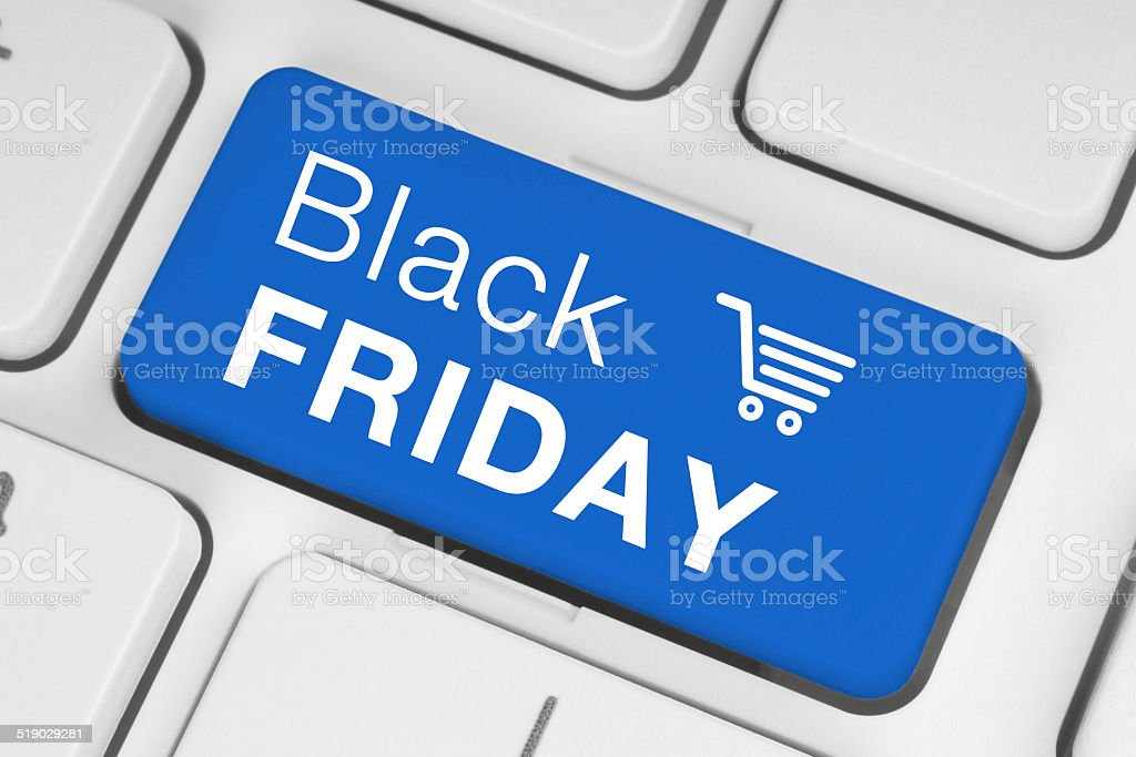 Black Friday sale on a keyboard stock photo