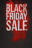 Black Friday Sale Text on dark and Red Background