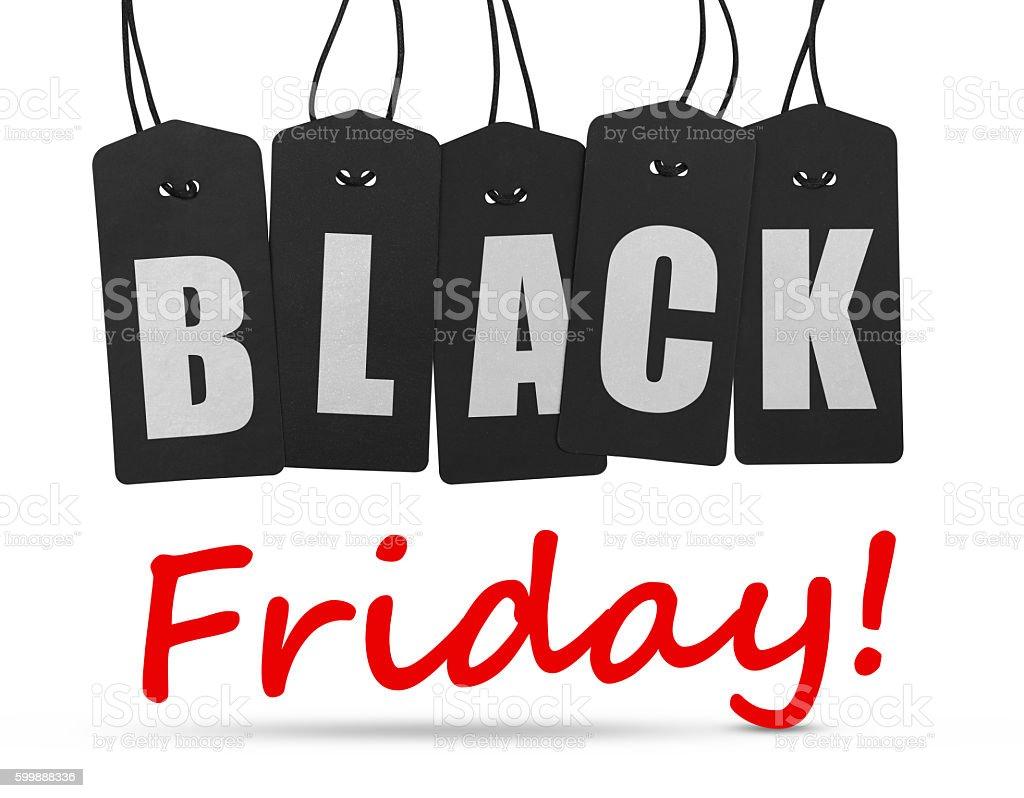 Black friday tags stock photo