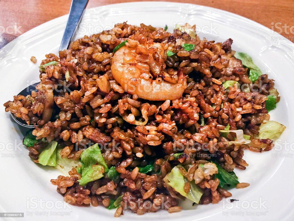 Black Fried Rice stock photo