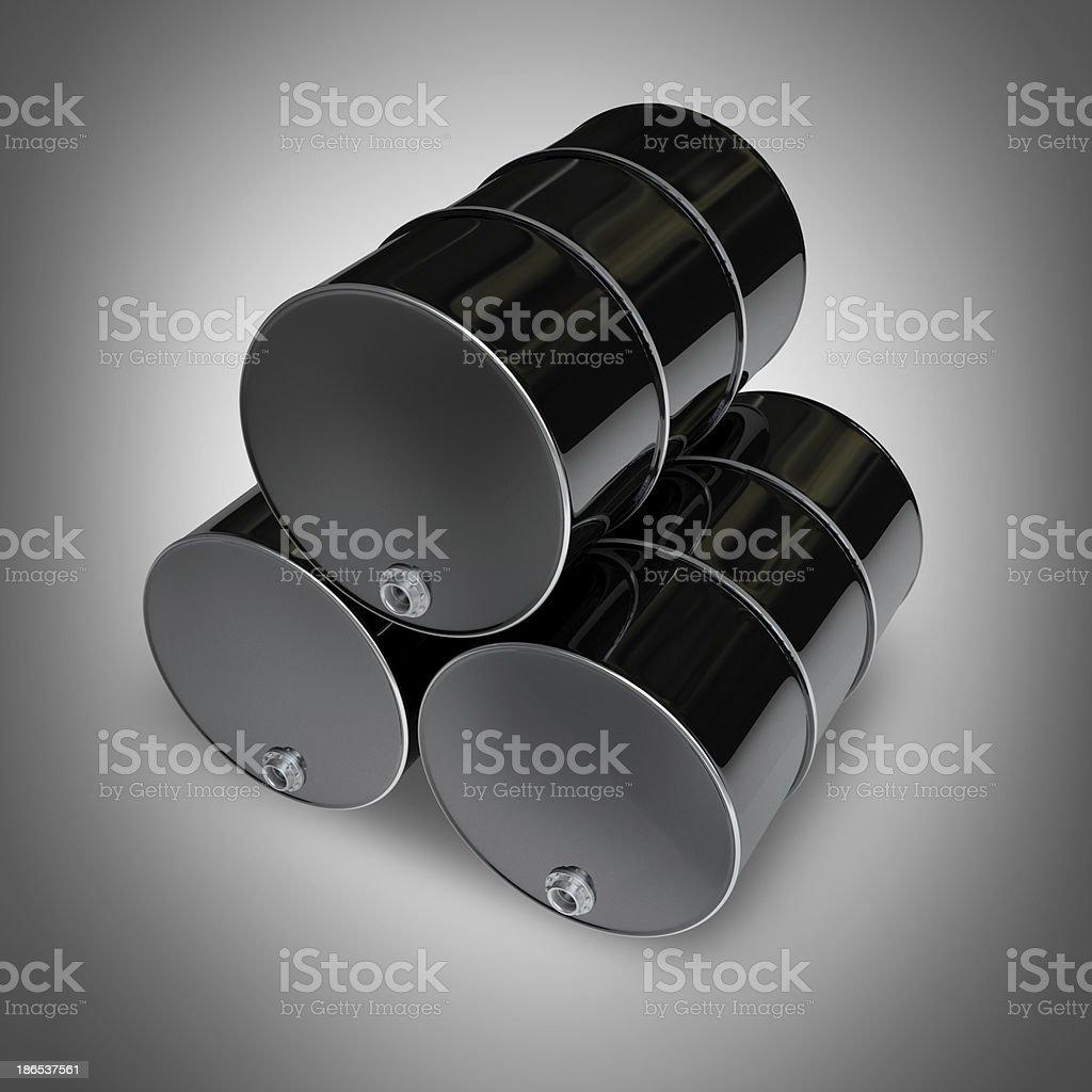 black FUEL barrels royalty-free stock photo