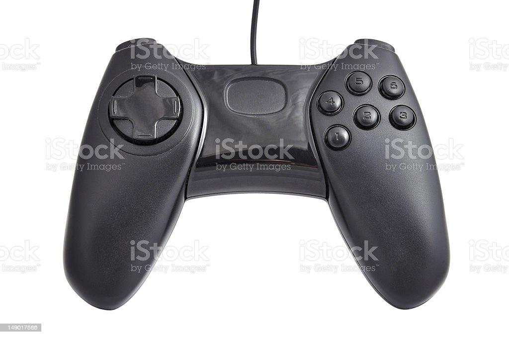 black gamepad stock photo