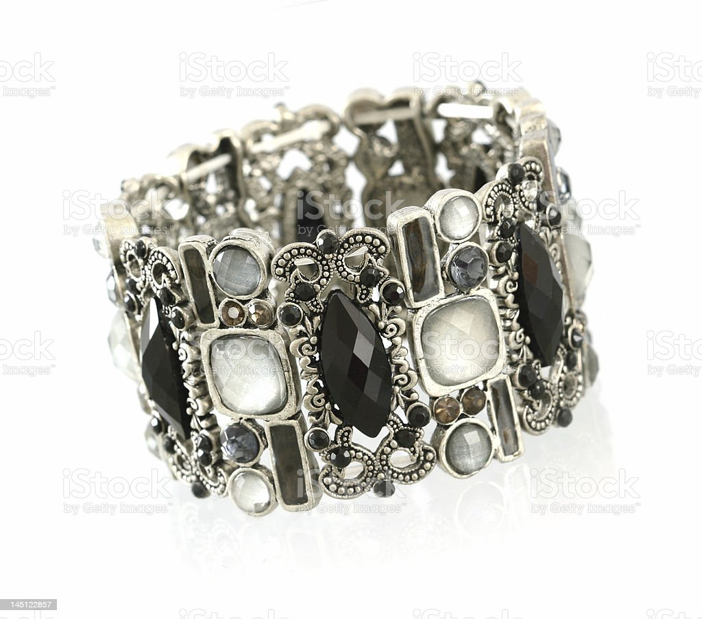 black gemstone bracelet royalty-free stock photo