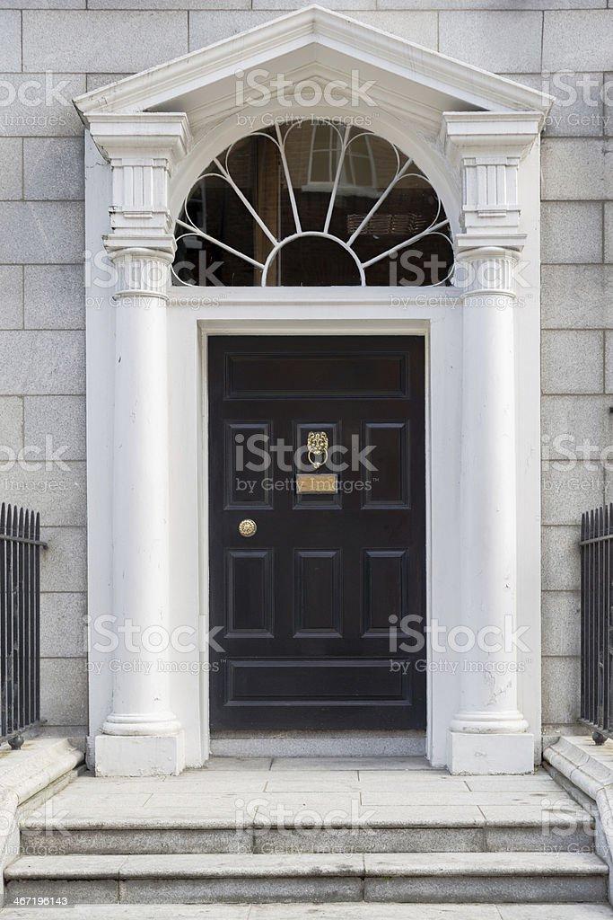 Black Georgian Door stock photo