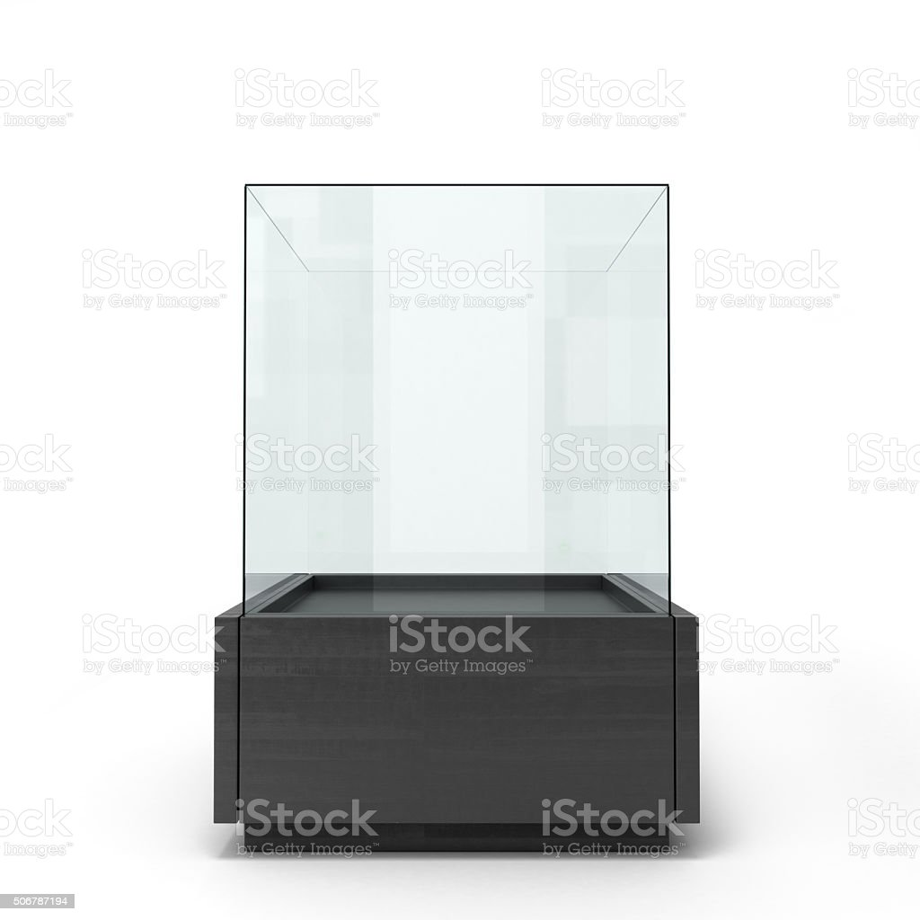 Black glass window isolated on a white background front view stock photo
