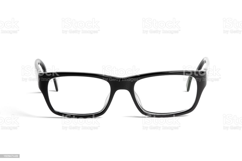 black glasses on white stock photo