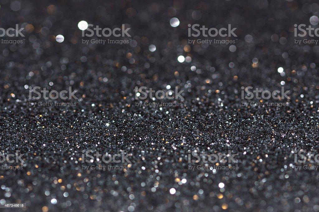 Black glitter texture background stock photo