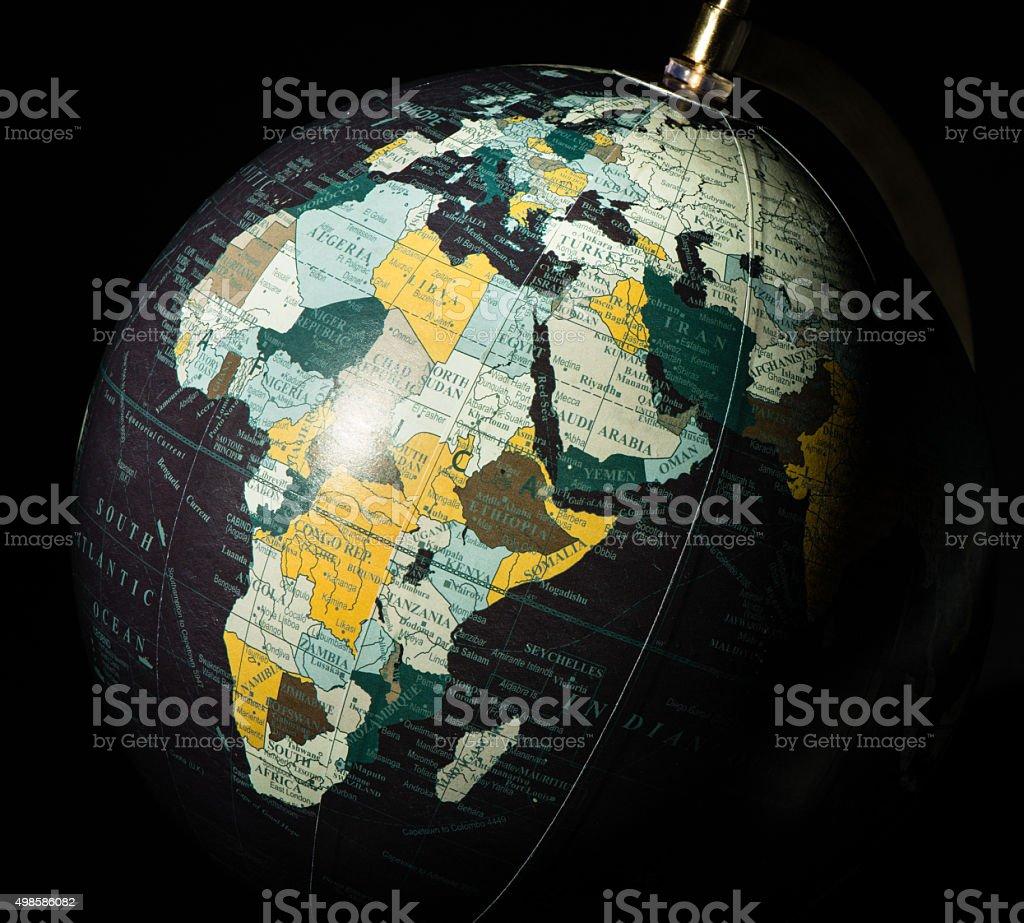 Black Globe stock photo