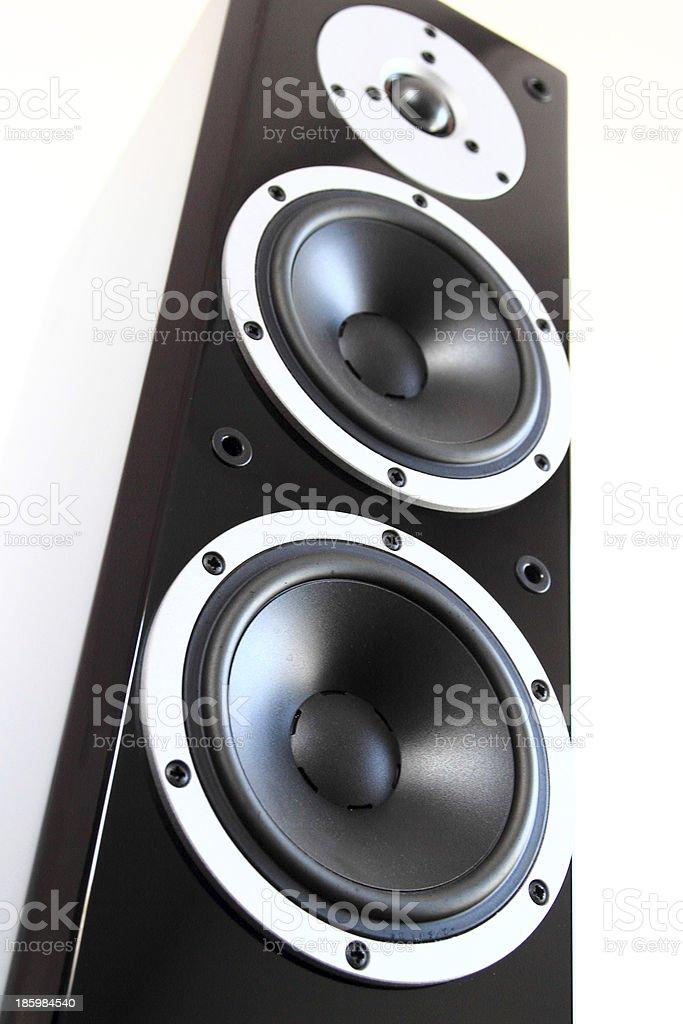 Black glossy audio speakers royalty-free stock photo