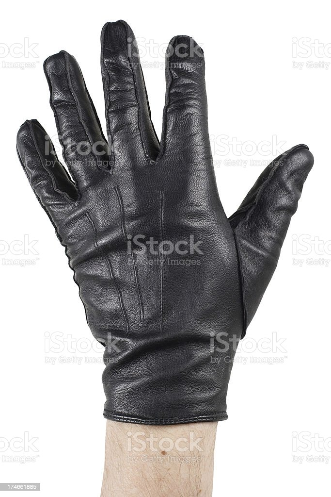 Black glove stock photo