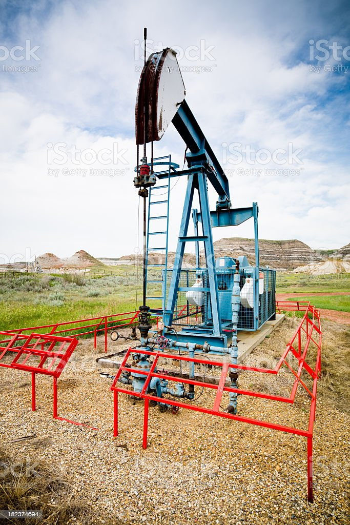 Black Gold Canada Oil Pump royalty-free stock photo