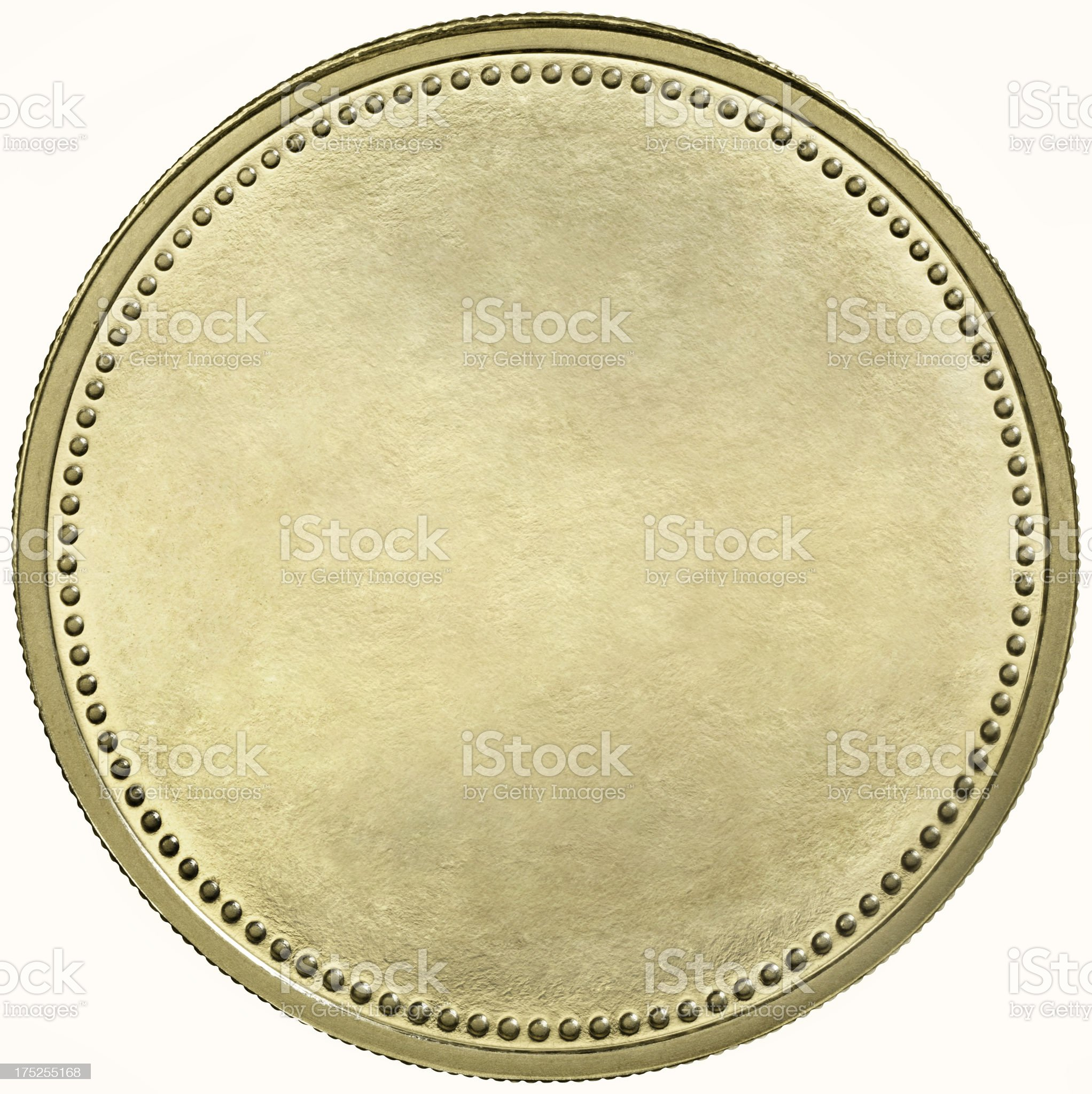 Black gold coin with dotted edge royalty-free stock photo