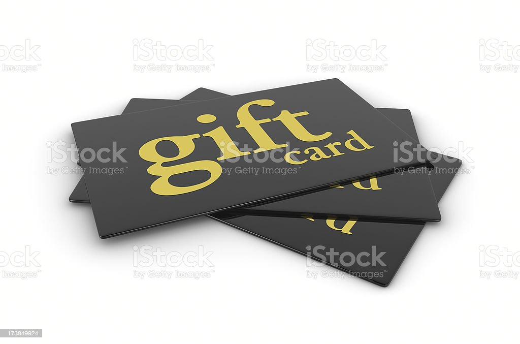 Black Gold Gift Cards stock photo