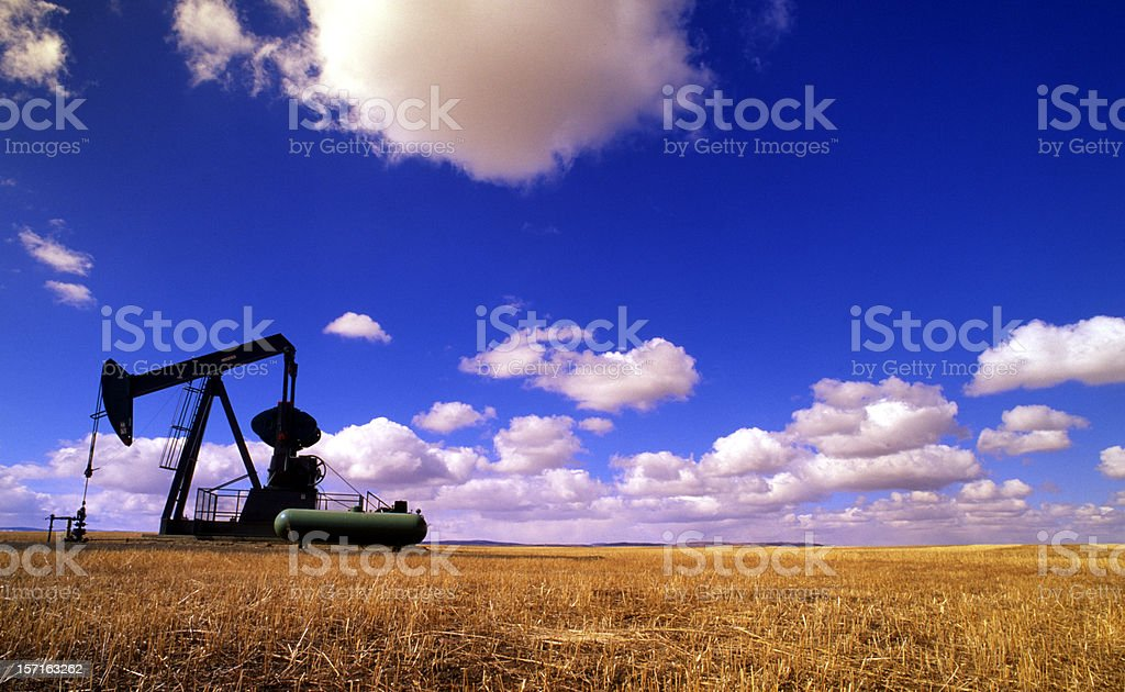 Black Gold Pump Jack royalty-free stock photo