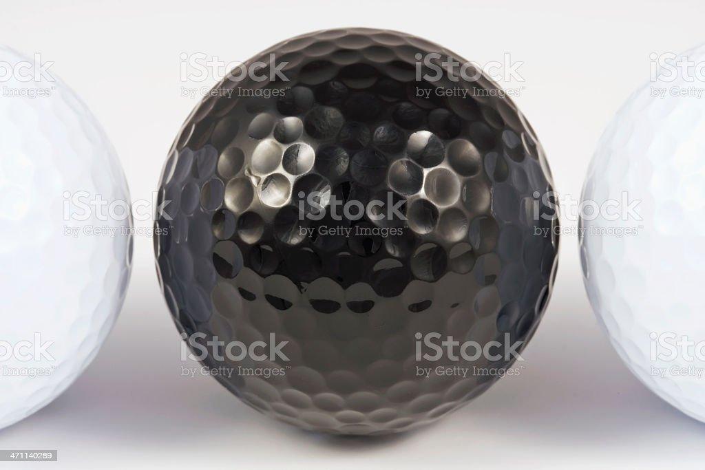 Black Golfball royalty-free stock photo