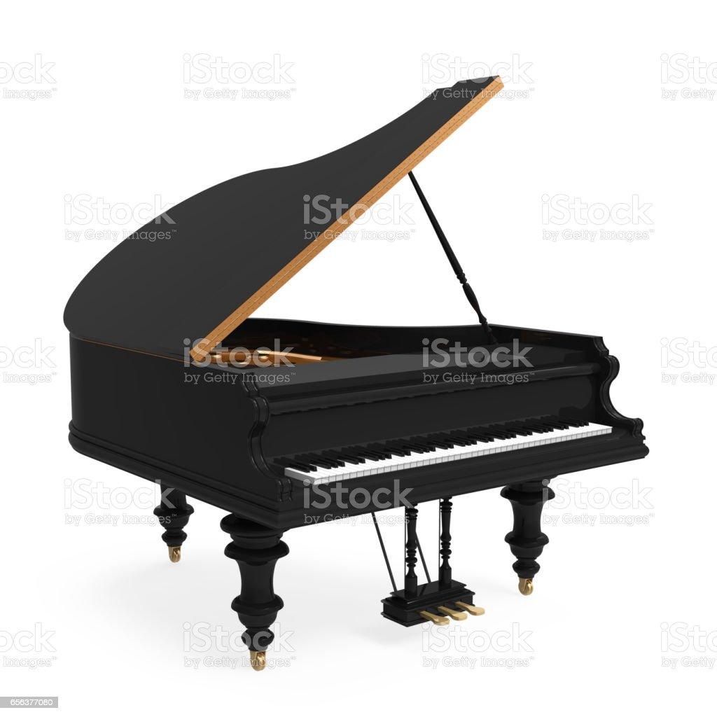 Black Grand Piano Isolated stock photo
