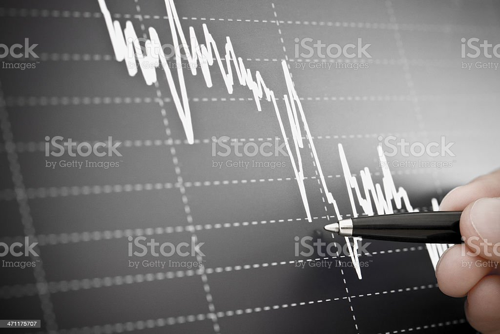 Black Graph stock photo