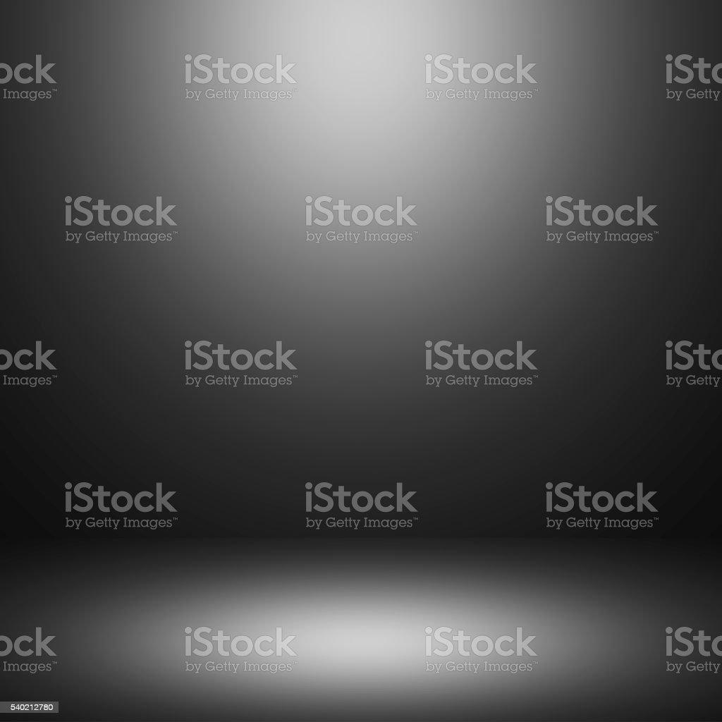 Black grey room interior background stock photo