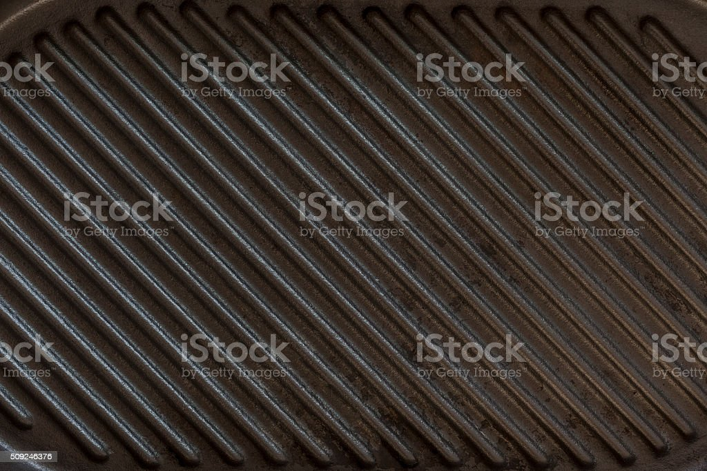 Black grill pan background stock photo
