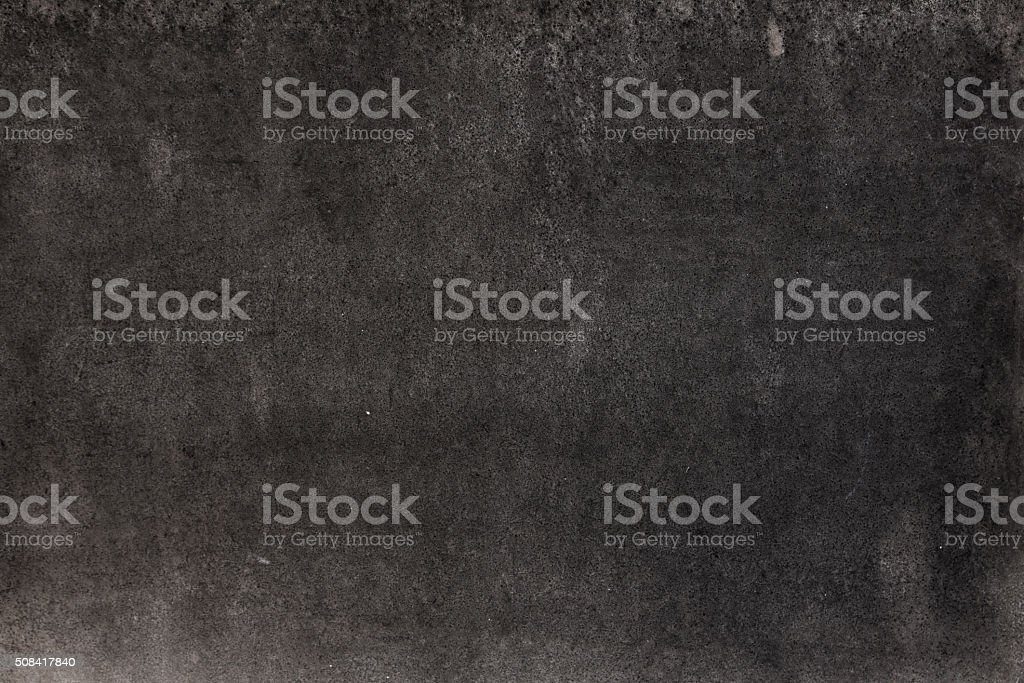 Black grunge styled textured background (empty blackboard) with copy space stock photo