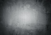 Black grunge weathered concrete wall texture