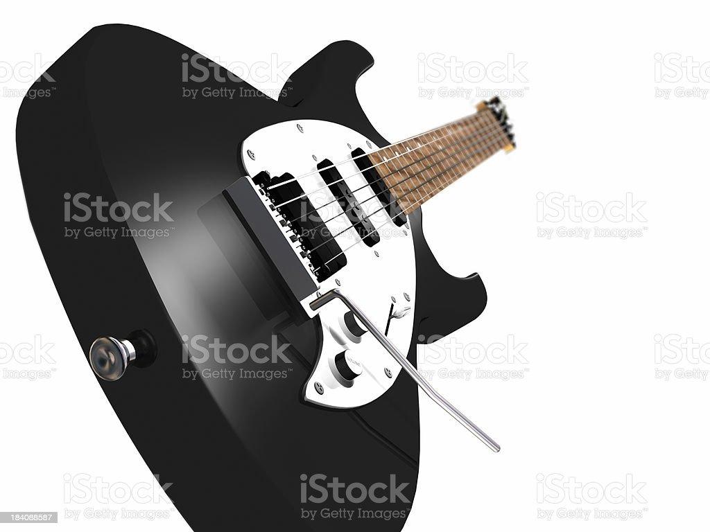 Schwarze Gitarre Lizenzfreies stock-foto