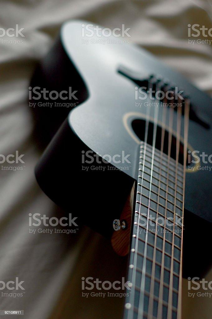 black guitar royalty-free stock photo