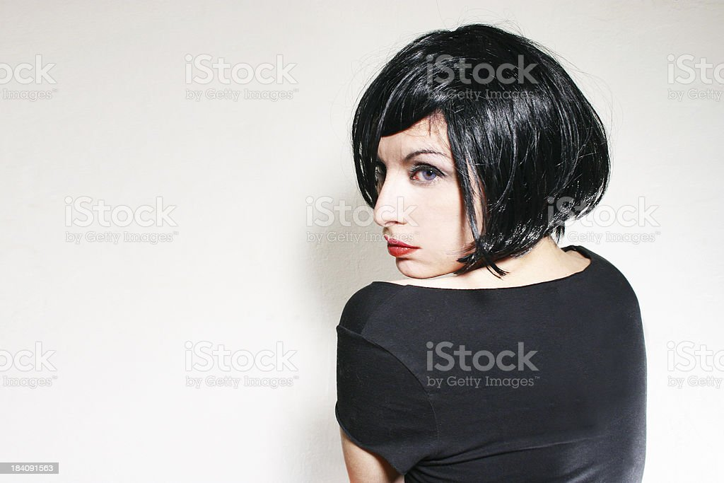 Black hair girl royalty-free stock photo