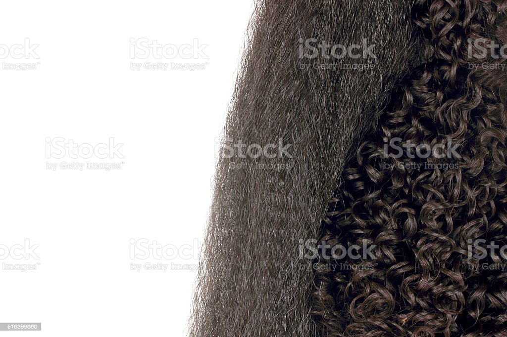 Black hair stock photo