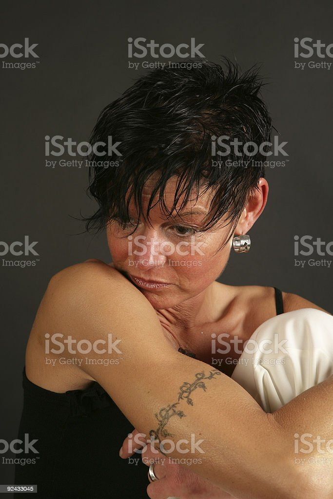 black haired model royalty-free stock photo